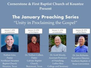 January Preaching Series @ Cornerstone Baptist Church